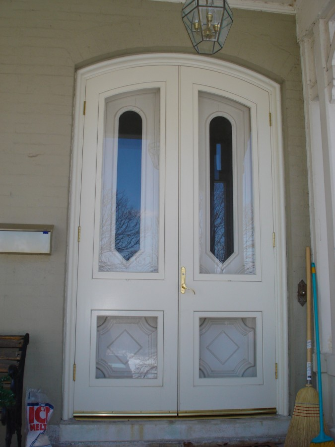 Double combination front storm doors for Double entry storm doors