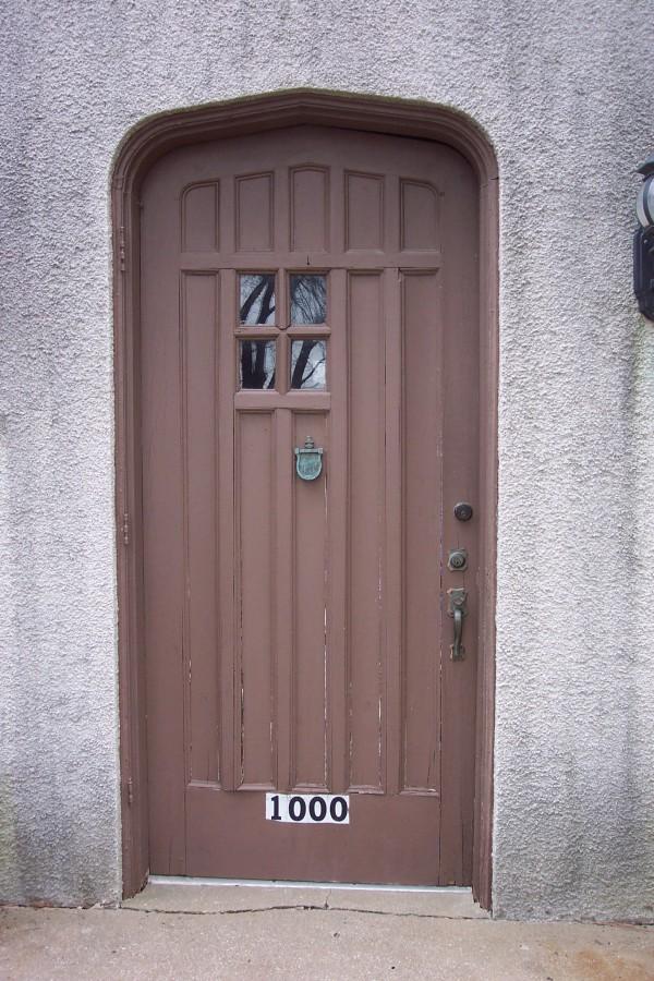 Gentil Original Front Door Showing Deterioration