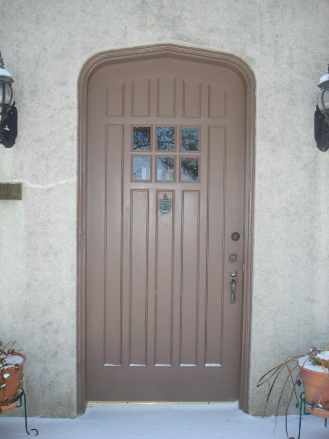 Replacement Front Door With Original Hardware Re Installed