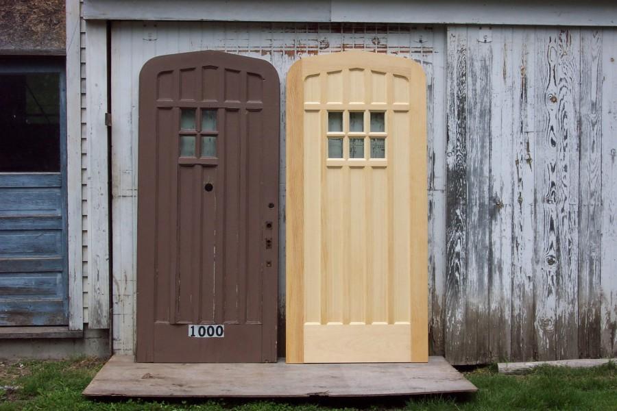 Tudor doors tudor arch oak panelled double doors for Front door replacement